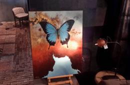 Schilderij Papilio Ulysses